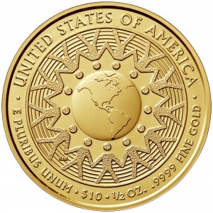 2016 First Spouse Gold Coin Patricia Nixon Uncirculated Reverse