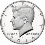 2016 Kennedy Half Dollar Proof Obverse San Francisco