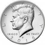 2016 Kennedy Half Dollar Uncirculated Obverse Denver