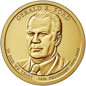 2016 Presidential Dollar Coin Gerald R. Ford Uncirculated Obverse