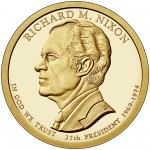 2016 Presidential Dollar Coin Richard M. Nixon Proof Obverse
