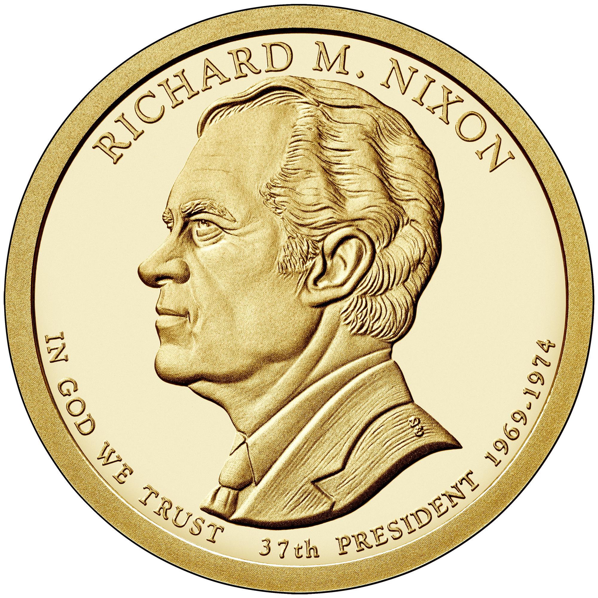 2016 Presidential Dollar Coin Richard M. Nixon Proof Obverse