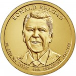 2016 Presidential Dollar Coin Ronald Reagan Uncirculated Obverse
