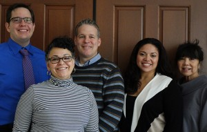 From left to right: Benjamin Dunlap, Lynn Hayes, Brian Putman, Gisela Moore and Shirl Nevas.