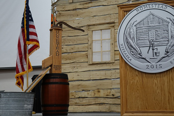 The stage is set for the Homestead National Monument of America quarter launch