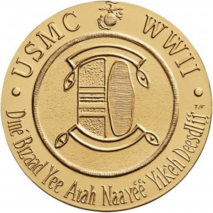 2000 Code Talkers Navajo Nation Bronze Three Inch Medal Reverse