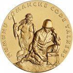 2008 Code Talkers Comanche Nation Bronze Three Inch Medal Obverse