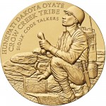 2008 Code Talkers Crow Creek Sioux Tribe Bronze Three Inch Medal Obverse