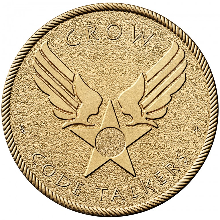 2008 Code Talkers Crow Nation Bronze Three Inch Medal Obverse
