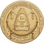 2008 Code Talkers Fond Du Lac Tribe Bronze Three Inch Medal Reverse