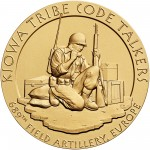 2008 Code Talkers Kiowa Tribe Bronze Three Inch Medal Obverse