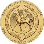 2008 Code Talkers Kiowa Tribe Bronze Three Inch Medal Reverse