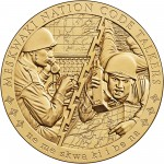 2008 Code Talkers Meskwaki Nation Bronze Three Inch Medal Obverse
