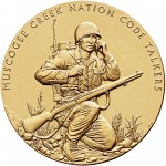 2008 Code Talkers Muscogee Creek Nation Bronze Three Inch Medal Obverse