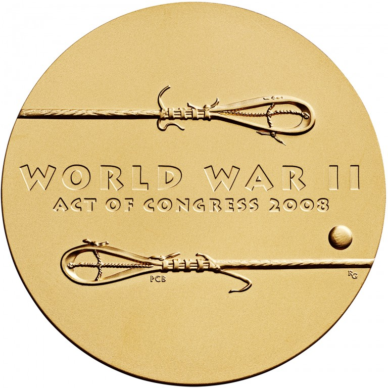 2008 Code Talkers Muscogee Creek Nation Bronze Three Inch Medal Reverse