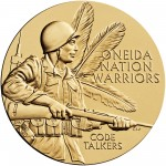 2008 Code Talkers Oneida Nation Bronze Three Inch Medal Obverse