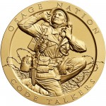 2008 Code Talkers Osage Nation Bronze Three Inch Medal Obverse