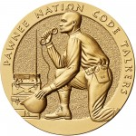 2008 Code Talkers Pawnee Nation Bronze Three Inch Medal Obverse