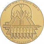 2008 Code Talkers Ponca Tribe Bronze Three Inch Medal Reverse