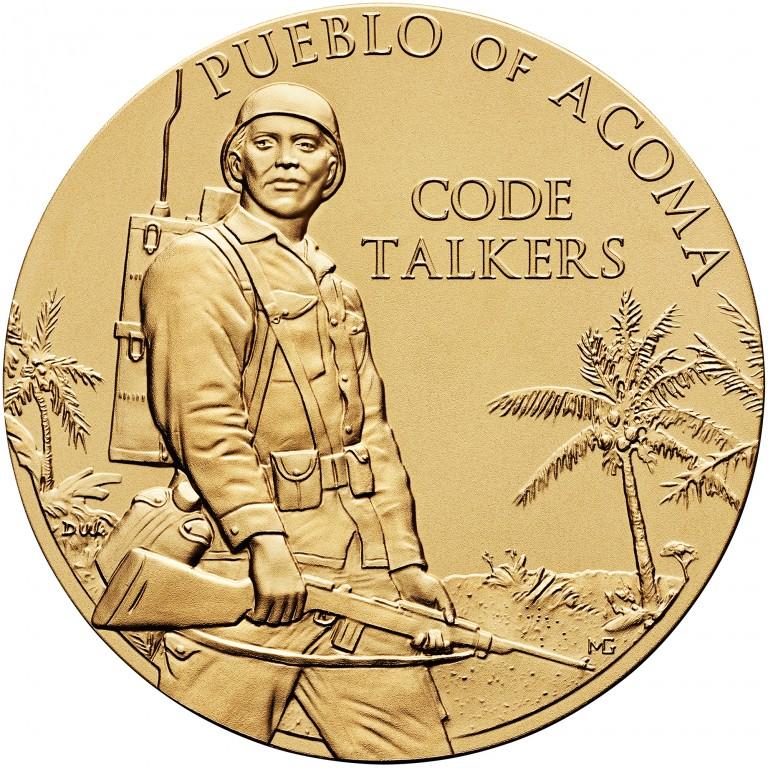 2008 Code Talkers Pueblo Acoma Tribe Bronze Three Inch Medal Obverse