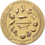 2008 Code Talkers Pueblo Acoma Tribe Bronze Three Inch Medal Reverse
