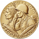 2008 Code Talkers Rosebud Sioux Tribe Bronze Three Inch Medal Obverse