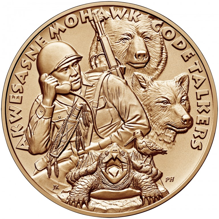 2008 Code Talkers Saint Regis Mohawk Tribe Bronze One And One Half Inch Medal Obverse