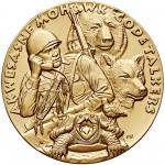2008 Code Talkers Saint Regis Mohawk Tribe Bronze Three Inch Medal Obverse