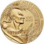 2008 Code Talkers Saint Regis Mohawk Tribe Bronze Three Inch Medal Reverse