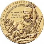 2008 Code Talkers Seminole Nation Bronze Three Inch Medal Obverse