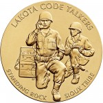 2008 Code Talkers Standing Rock Sioux Tribe Bronze Three Inch Medal Obverse