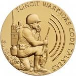 2008 Code Talkers Tlingit Tribe Bronze Three Inch Medal Obverse
