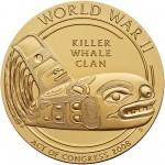 2008 Code Talkers Tlingit Tribe Bronze Three Inch Medal Reverse