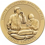 2008 Code Talkers White Mountain Apache Tribe Bronze Three Inch Medal Obverse
