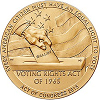 1965 Selma to Montgomery Voting Rights Marches bronze medal reverse
