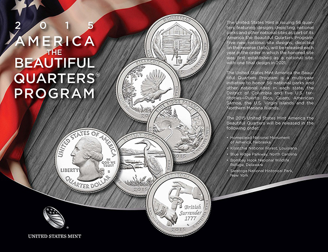 2015 America the Beautiful Quarters® Program brochure