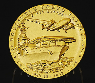 Doolittle Tokyo Raiders Congressional Gold Medal–obverse image