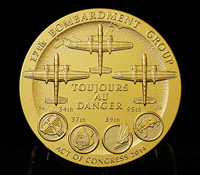 Doolittle Tokyo Raiders Congressional Gold Medal–reverse image