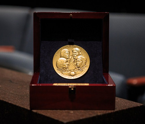 Congressional Gold Medal for the American Fighter Aces in presentation box.