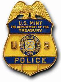 United States Mint Police badge.