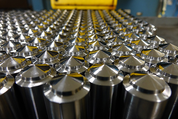 Cylinders of tool steel before being made into dies.