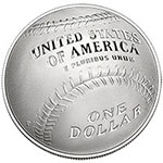 National Baseball Hall of Fame Commemorative Coin reverse