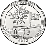 2013 Fort McHenry National Monument and Historic Shrine America the Beautiful Quarter