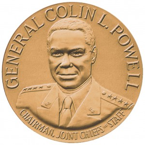 1991 General Colin Powell Bronze Medal Obverse