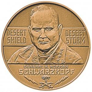 1991 General H Norman Schwarzkopf Bronze Medal Obverse