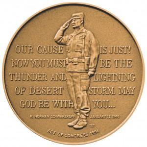 1991 General H Norman Schwarzkopf Bronze Medal Reverse
