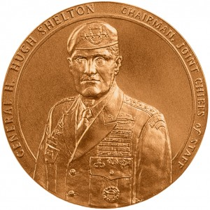 2002 General H Hugh Shelton Bronze Medal Obverse