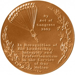 2002 General H Hugh Shelton Bronze Medal Reverse