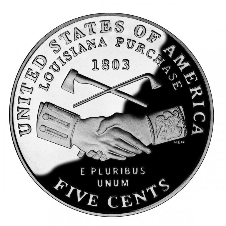 2004 Westward Journey Nickel Series Louisiana Purchase Proof Reverse