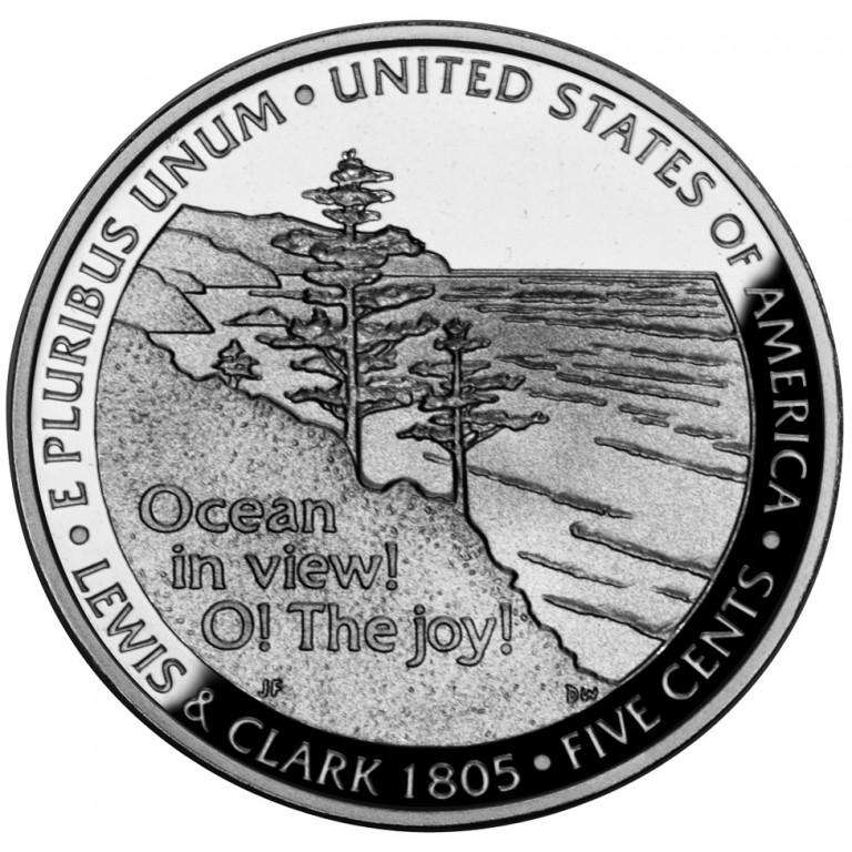 2005 Westward Journey Nickel Series Ocean In View Proof Reverse